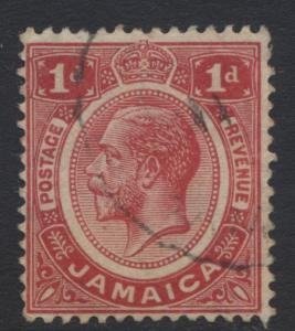 Jamacia - Scott 61 - KGV Head -1916 - FU -  Single 1p  Stamp - Lot 1