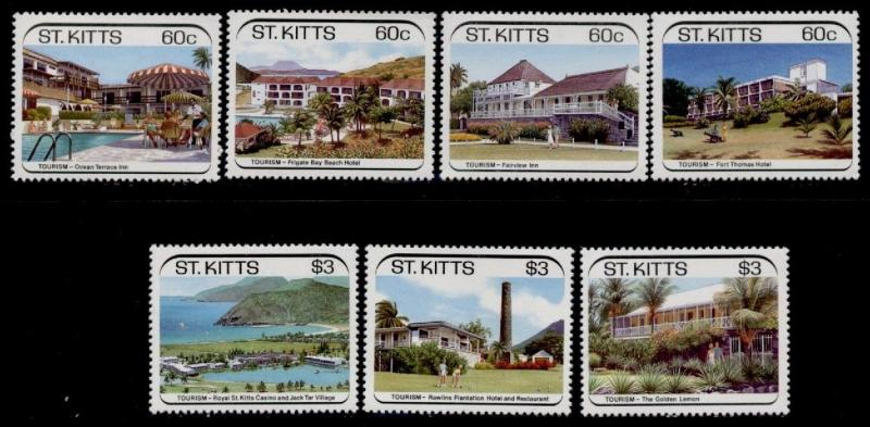 St Kitts 223-9 MNH Tourism, Architecture
