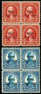 US Stamps # 647-8 MNH Superb Blocks of 4 gems