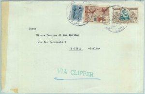 84281 - ECUADOR - POSTAL HISTORY - COVER to ITALY via CLIPPER 1940'S - CERVANTES