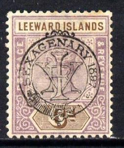 Leeward Islands 1897 QV Diamond Jubilee 6d mounted mint S...