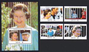 Nevis 65th Birthday of Queen Elizabeth II 4v+MS SG#622-MS626