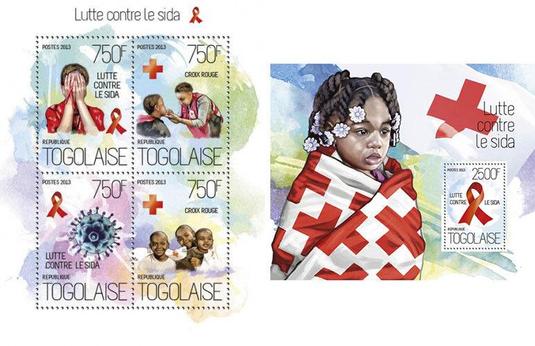 Medicine Medizin International Medical Aid Africa Red Cross Togo MNH stamp set