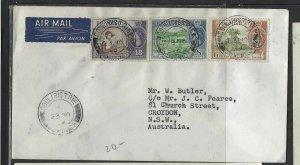DOMINICA COVER (P1902B) 1968  QEII 48C+8C+6C COULIBISTRIE A/M TO AUSTRALIA