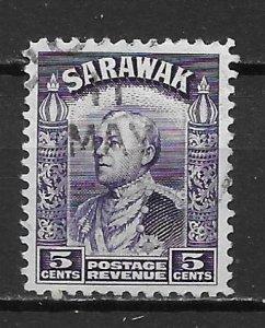 Sarawak 115 5c Sir Charles Brooke single Used (z2)
