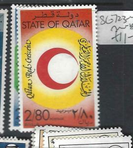 QATAR  (P1306B)   RED CROSS  SG 723-4   MNH