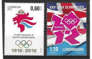 2012    LUXEMBOURG  -  SG.  1947 / 1948  -  OLYMPICS  -  MNH