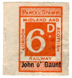 (I.B) London Midland & Scottish Railway : Parcel 6d (John o' Gaunt)
