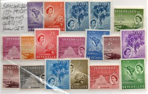 Seychelles 173-190 Set Mostly Mint Never Hinged