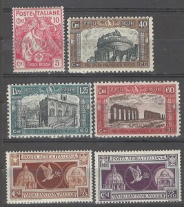 COLLECTION LOT # 4987 ITALY 6 SEMI POSTAL MH STAMPS 1915+ CV+$24
