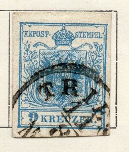 Austria 1850 Early Issue Fine Used 9kr. NW-11523