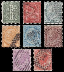 Italy 1863 Sc 24-33 less 28 used vg-vf