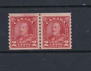 CANADA - 1930 KING GEORGE V LINE PAIR WITH 'COCKEYED KING' - SCOTT 181iii - MNH