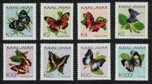 Malawi Butterflies 8v issue 2002 SG#1005-1012