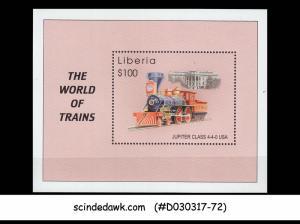 LIBERIA - 2001 THE WORLD of TRAINS / RAILWAY - Miniature sheet MNH