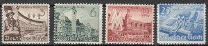Germany - 1940 Leipzig Fair Sc# 494/497- MH (7452)