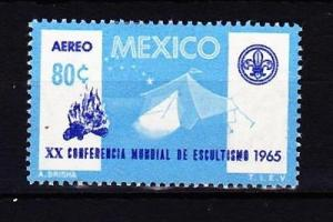 MEXICO –Sc#C305 1965 Airmail 20th World Boy Scout Conference MNH