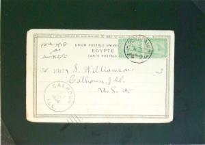 Egypt 1906 Port Said Post Card to USA - Z2667
