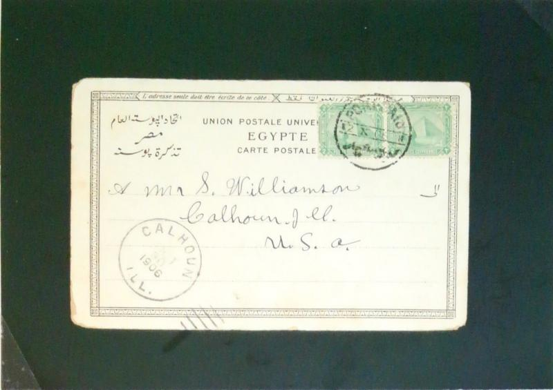 Egypt 1906 Port Said Post Card to USA - Z2667