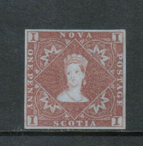 Nova Scotia #1 Extra Fine Unused (No Gum) Gem **With Certificate**