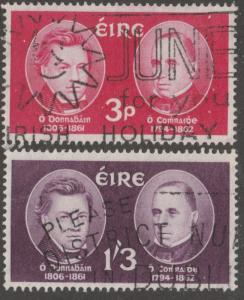 Ireland, stamp, Scott# 182-183,used, Gaelic scholars and translators, #M011