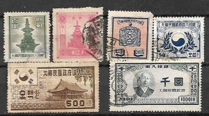 KOREA FISCAL REVENUE TAX  OLD CLASSICAL STAMPS