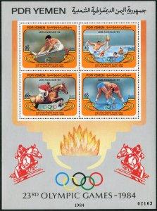 Yemen PDR 320,320 var,MNH. Olympics Los Angeles-1984. Gymnastics, Water polo,