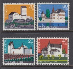 Switzerland B447-B450 Architecture MNH VF