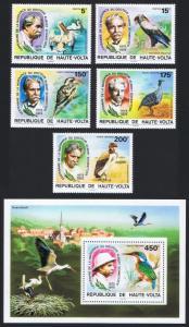 Upper Volta Birds Dr Albert Schweitzer 5v+MS MI#575-579 SC#368-369+C212-C214