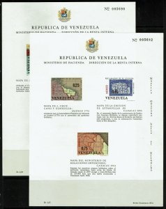 Venezuela 2 Souvenir Sheets, Never Hinged, few minor creases - M474