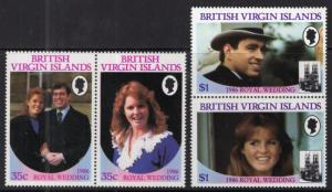 British Virgin Islands MNH 537-40 Royal Wedding Sarah Ferguson SCV 3.40