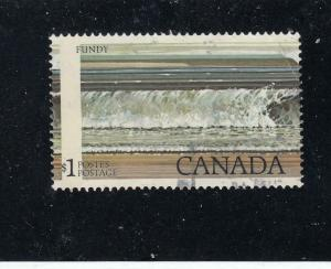 CANADA # 726 $1 BLACK COLOUR SHIFTS AND MISPERF CAT VALUE $250
