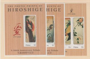 Palau Scott #431-432-433 Stamps - Mint NH Souvenir Sheet