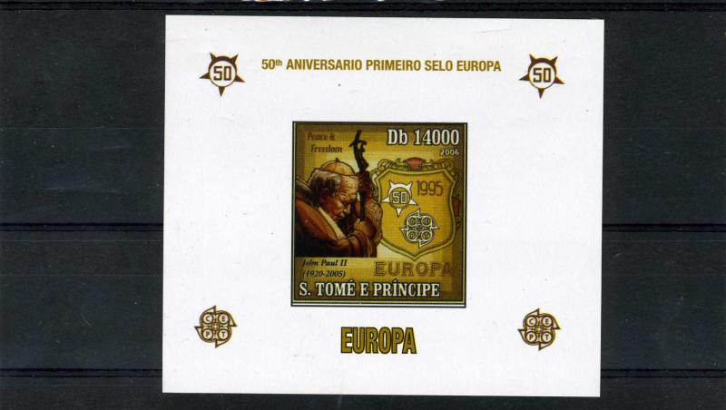 Sao Tome & Principe 2006 Pope John Paul II Deluxe s/s Imperforated mnh.vf