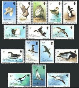 South Georgia 109-123, MNH. Birds, 1987