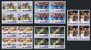 Zaire Olympic Games Atlanta 5v Blocks of 4 SG#1444-1448 SC#1444-1448 CV£20+