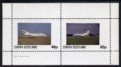Staffa 1982 Jets #1 perf  set of 2 values (40p & 60p)...