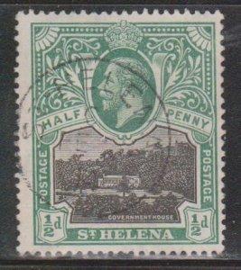 ST HELENA Scott # 61 Used - King George V & Government House