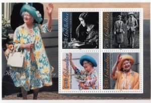 Gibraltar MNH S/S 849a Queen Mothers 100th Birthday 2000