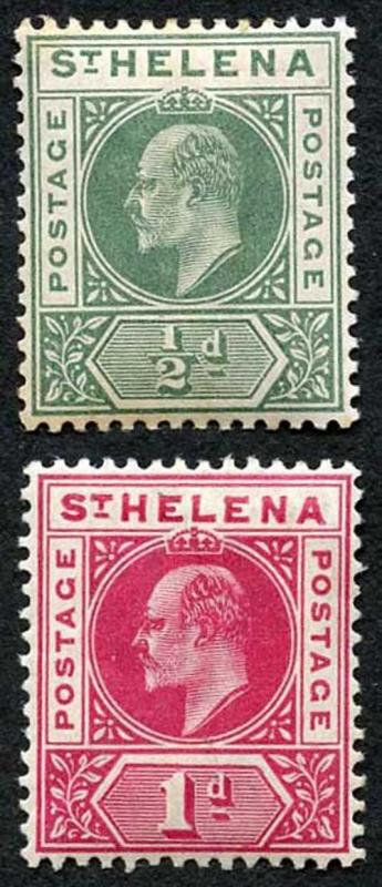 St Helena SG53/4s KEVII Set of 2 M/Mint (light toning on 1/2d)