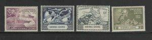 SIERRA LEONE #190-193  1949  UPU    MINT VF NH O.G