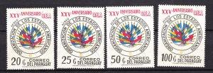 J27652 1973 paraguay hv,s of set mnh #1492-5 OAS emblem