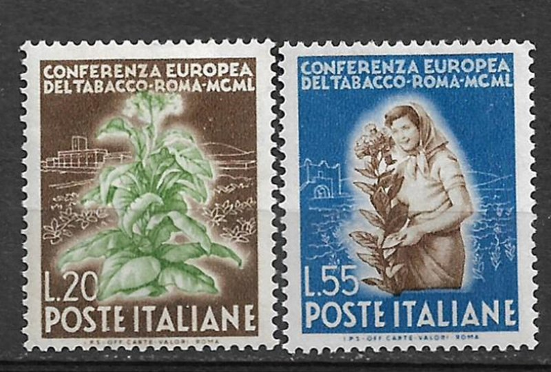 COLLECTION LOT #462 ITALY # 545-6 MH 1950 CV+$34