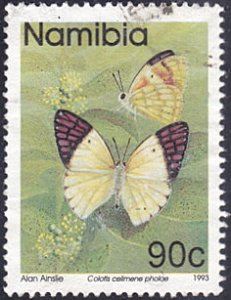 Namibia # 750 used ~ 90¢ Butterflies
