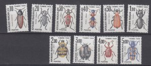 J29319, 1982-3 france set mnh #j106-15 insects