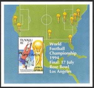 Tuvalu Sc# 670 MNH (SPECIMEN) 1994 $2 World Cup Soccer Souvenir Sheet
