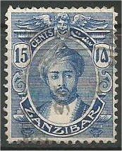ZANZIBAR, 1921, used 15c, with Serifs Harub Scott 165
