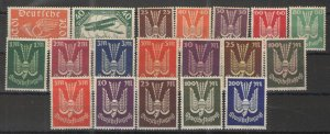 Germany - Weimar Era 1919-23 C1-19 MNH/MH VG/F - Early air mail issues