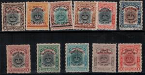 Straits Settlements 1907 SC 134A-144 Mint SCV $664.75 Set