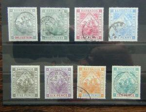 Barbados 1897 -1898 Diamond Jubilee values to 10d Used